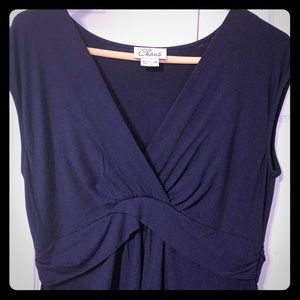 Chaus Navy Blue Sleeveless Blouse